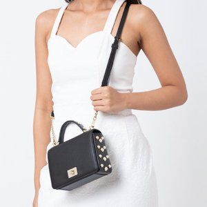 NEW Kate Spade Maisie black crossbody with pearls